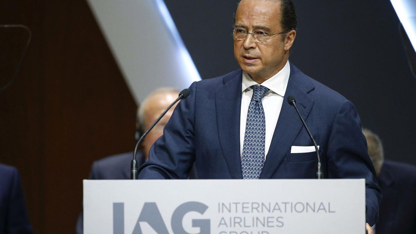 Foto: Antonio Vázquez, durante la junta general de accionistas de IAG en junio pasado. (EFE)