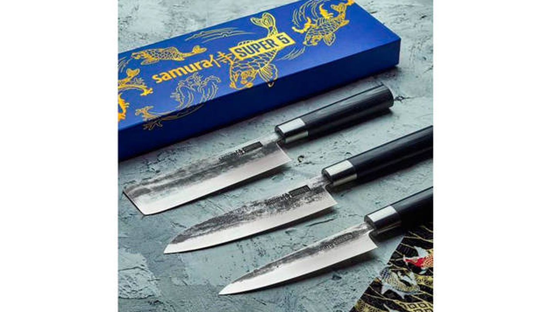 Estuche regalo 3 cuchillos premium Samura Super 5