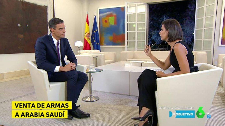 Pedro Sánchez y Ana Pastor. (Atresmedia)