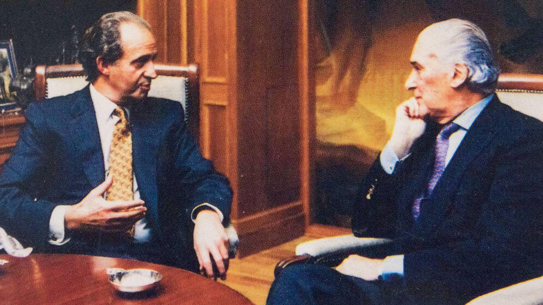 Juan Carlos I y José Luis de Vilallonga durante la elaboración del libro (Fixot)