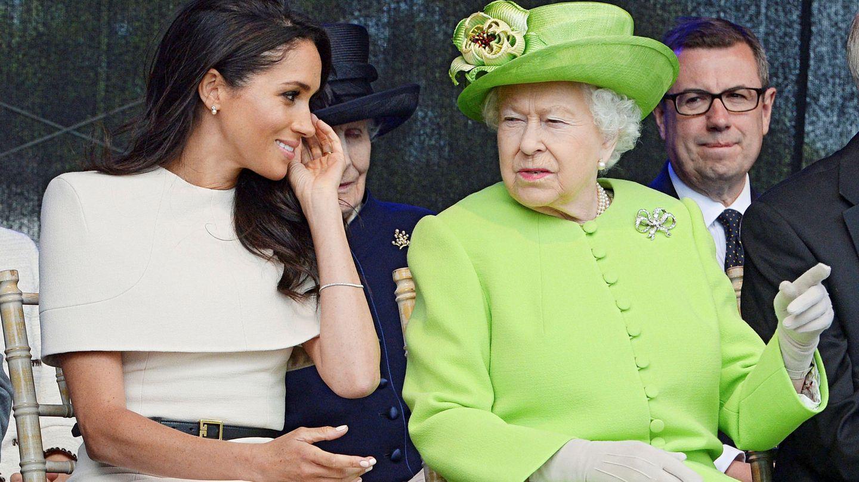 La reina Isabel II y Meghan Markle. (Reuters)