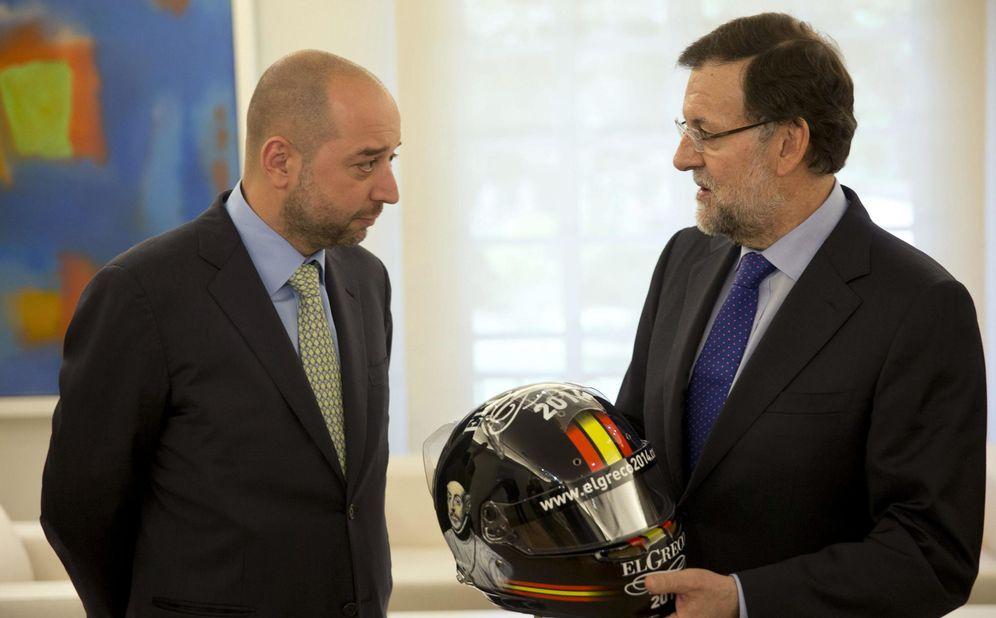 Foto: Gerard López, propietario de Lotus, junto a Mariano Rajoy, presidente del Gobierno (EFE)