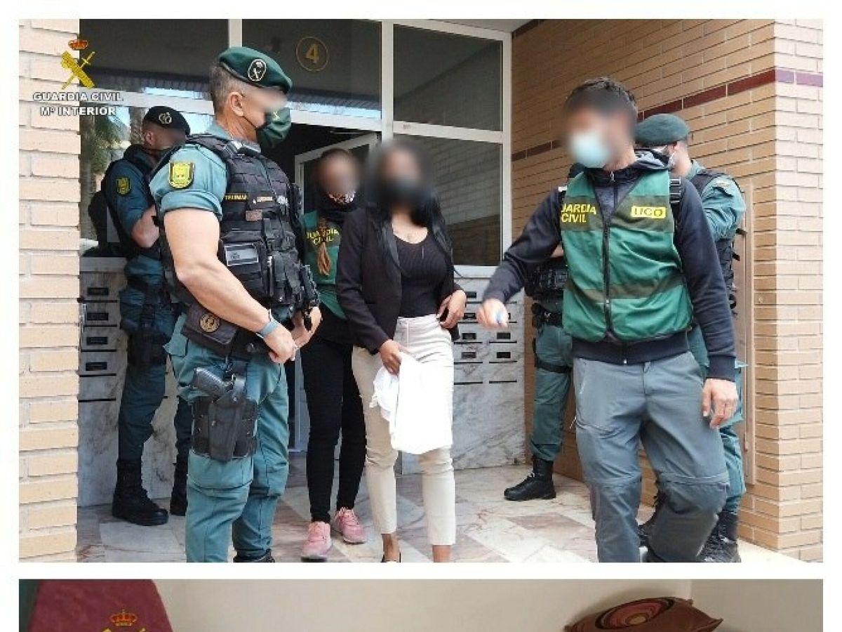 Foto: La guardia civil en el marco de la operación chacao, ha liberado a cinco mujeres, de nacionalidades sudamericanas, que estaban siendo explotadas sexualmente.