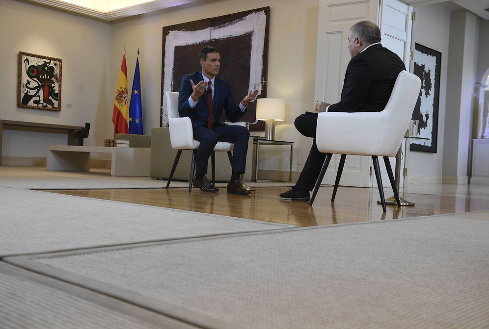 Foto: Pedro Sánchez, durante su entrevista con Antonio García Ferreras en 'Al rojo vivo', este 18 de julio. (Borja Puig de la Bellacasa | Moncloa)