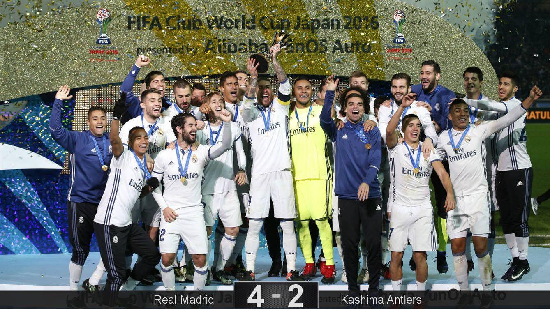 Foto: Sergio Ramos levanta el trofeo de campeón del mundo (Kim Kyung-Hoon/Reuters).