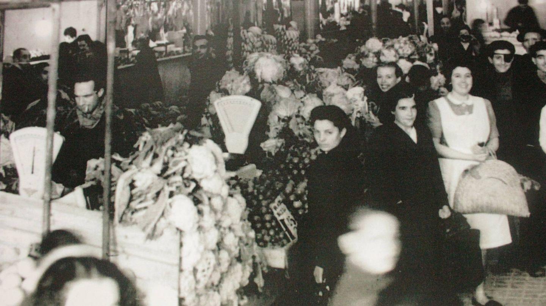 Mercado de la Paz a mediados del siglo XX.