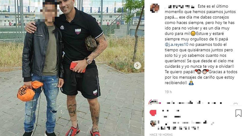 IG del hijo de José Antonio Reyes.