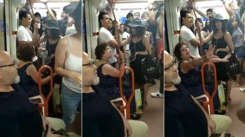 Una mujer carga contra una niña por sentarse en el metro sin ser española