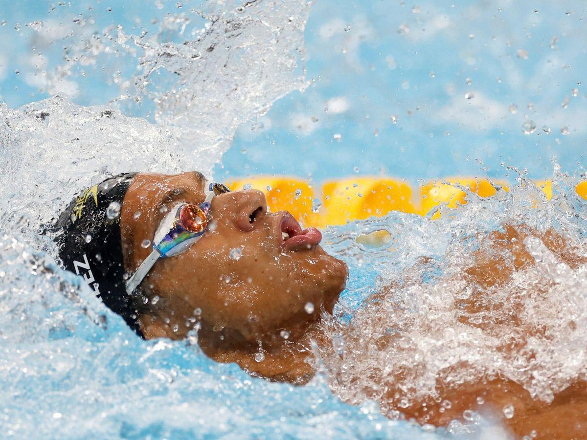 Foto: Natación: 100m espalda