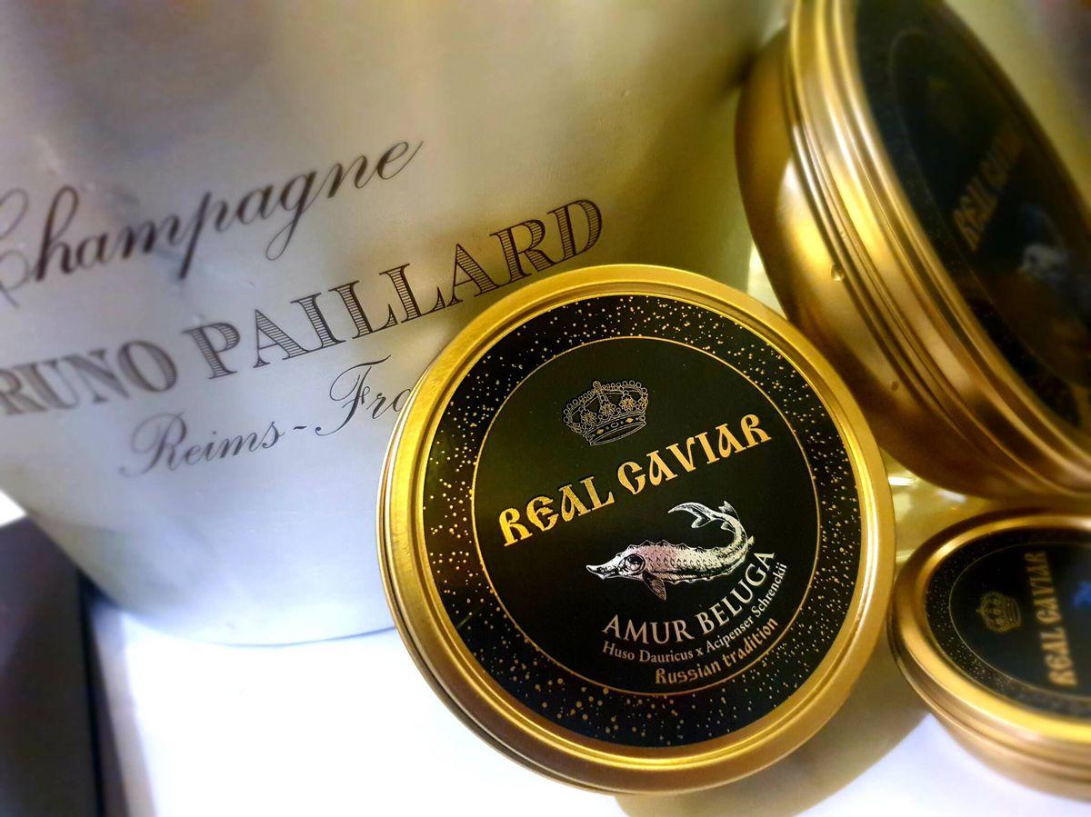 Foto: Caviar y champán.