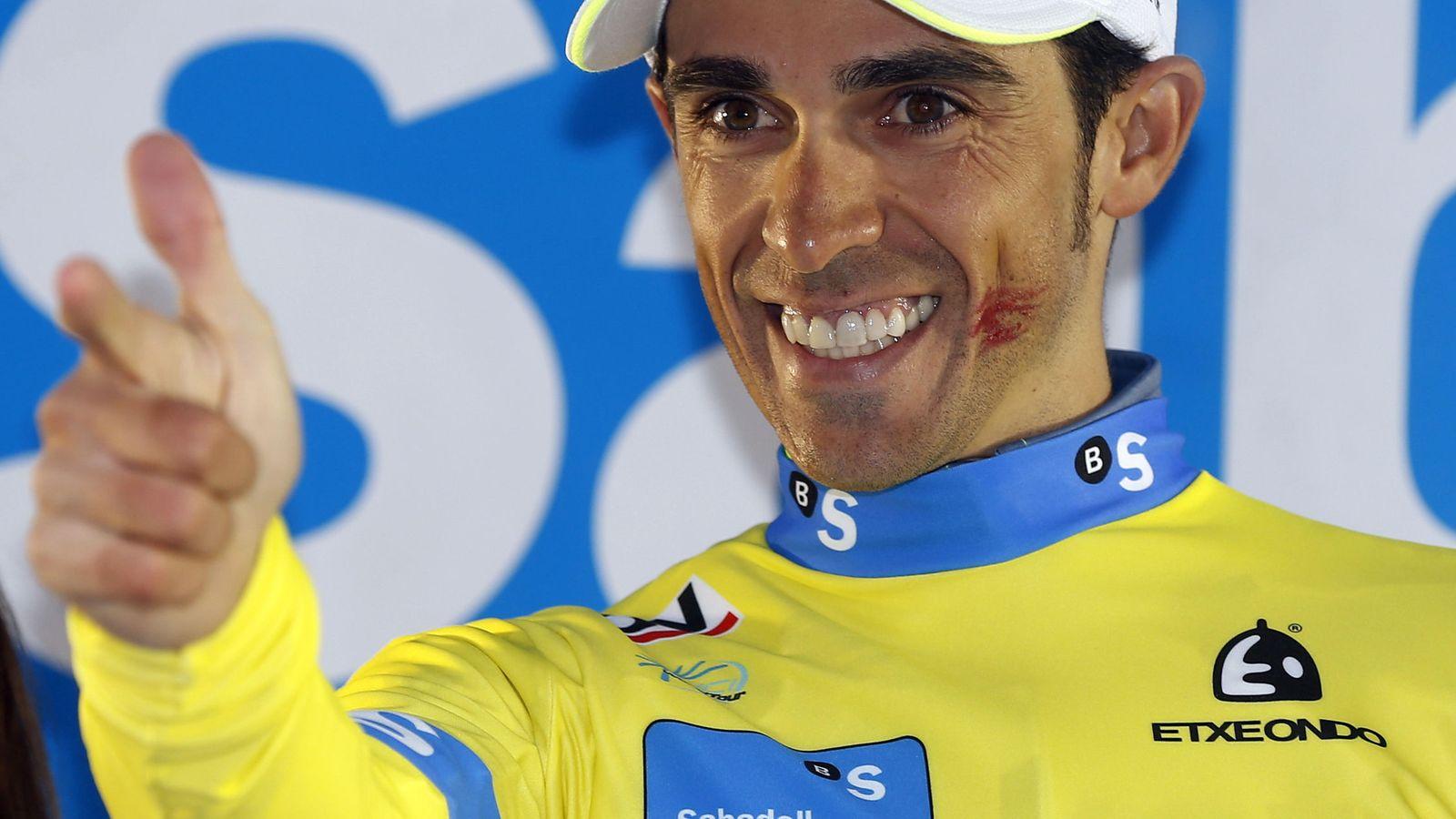 Foto: Alberto Contador aspira a ganar su tercer Tour y afronta esta nueva edición con inmejorables expectativas. (EFE)