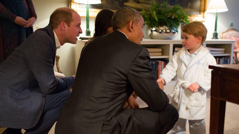 Los Obama, en Kensington. (Palacio de Kensington)