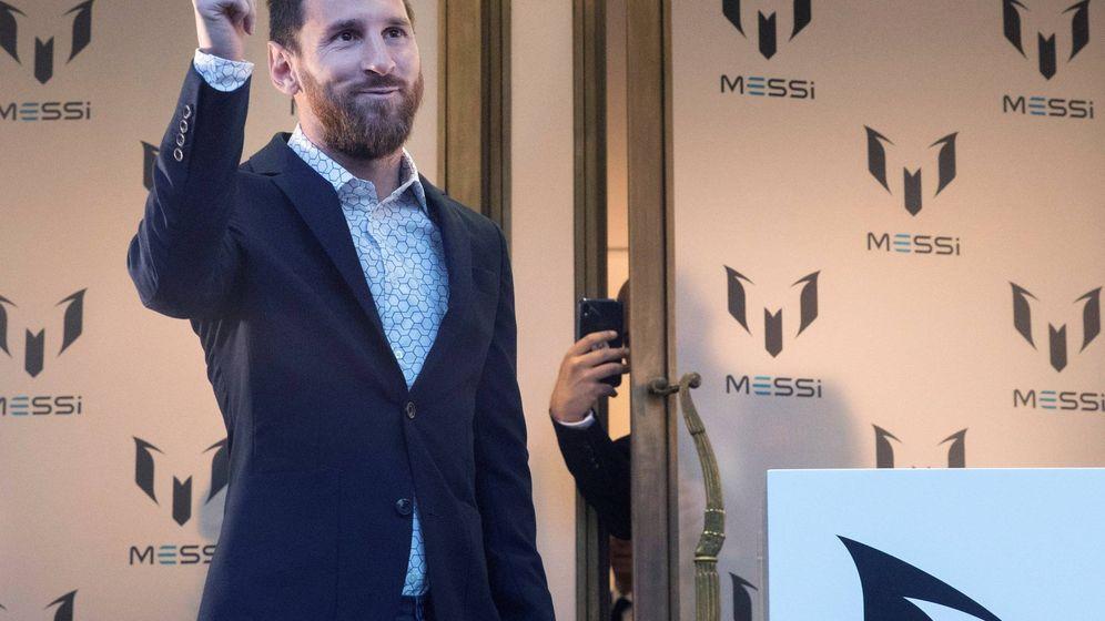 Foto: Leo Messi, en la presentación de su línea de ropa. (EFE)