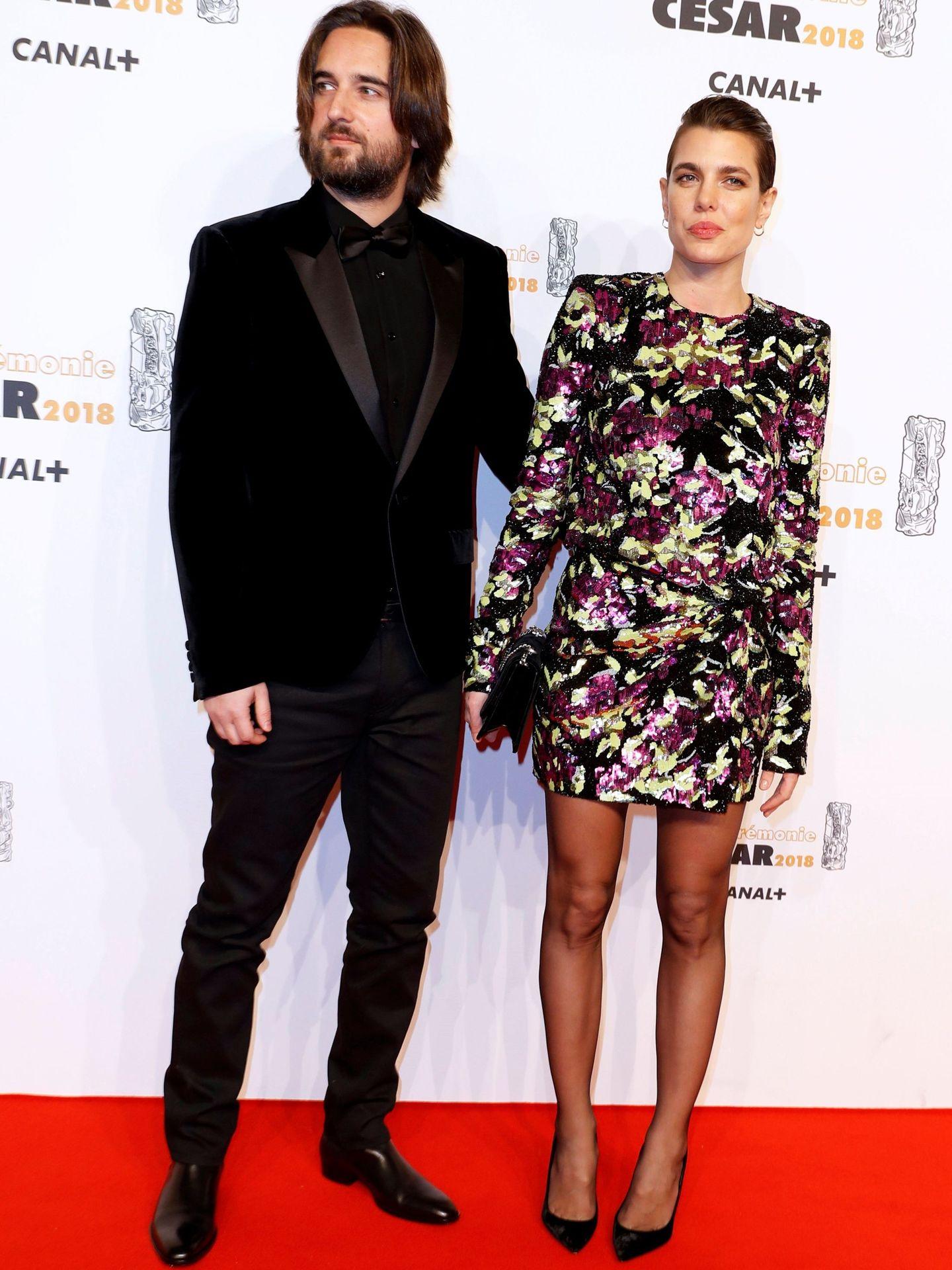 Dimitri Rassam y Carlota Casiraghi, en los Cesar de 2018. (EFE)