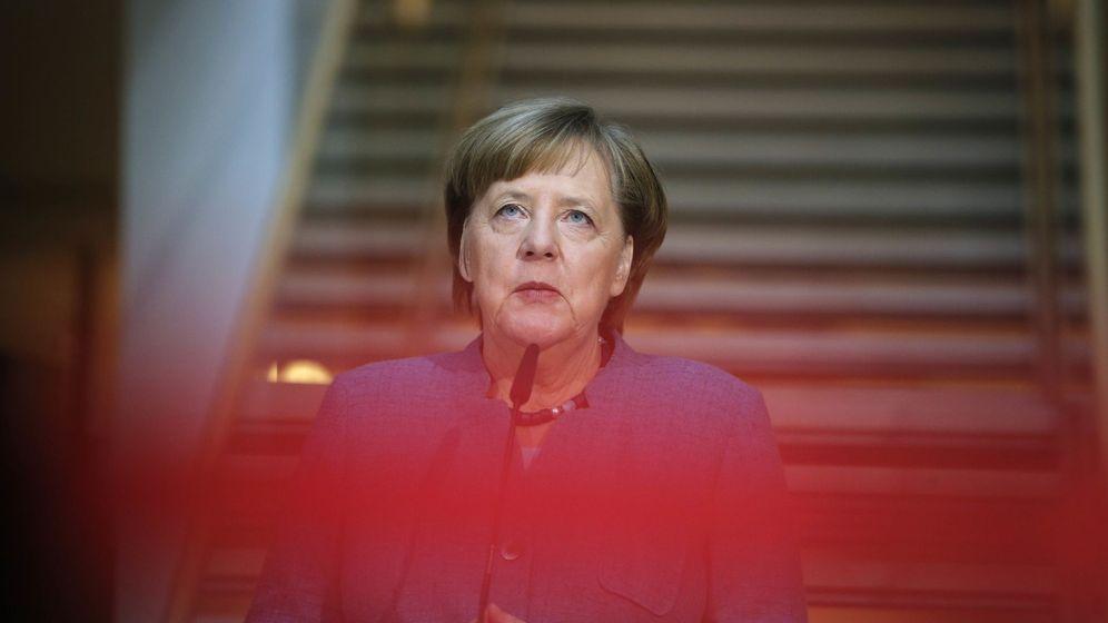 Foto: La canciller alemana Angela Merkel durante una comparecencia antes de la última ronda de negociaciones. (Reuters)