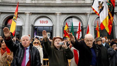 Concentración franquista en Madrid