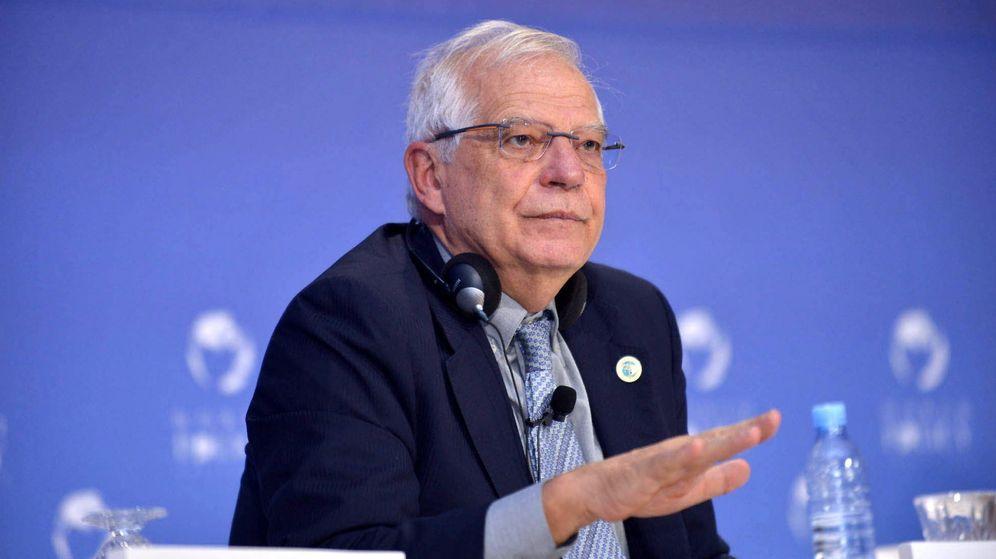Foto: El ministro de Exteriores, Josep Borrell, durante un debate del World Police Conference celebrado en Rabat, Marruecos, el pasado domingo. (EFE)