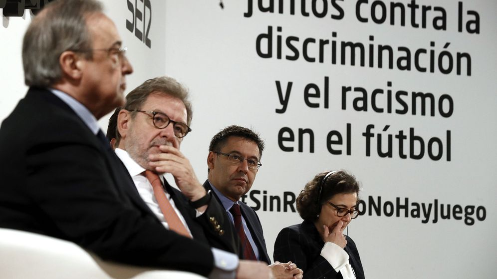 Foto: Juan Luis Cebrián, participando en un acto. (EFE)