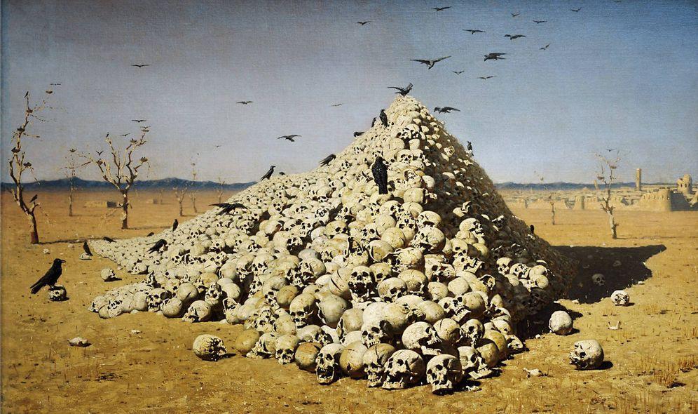 Foto: Vasily Vereshchagin, 'La apoteosis de la guerra' (1871)