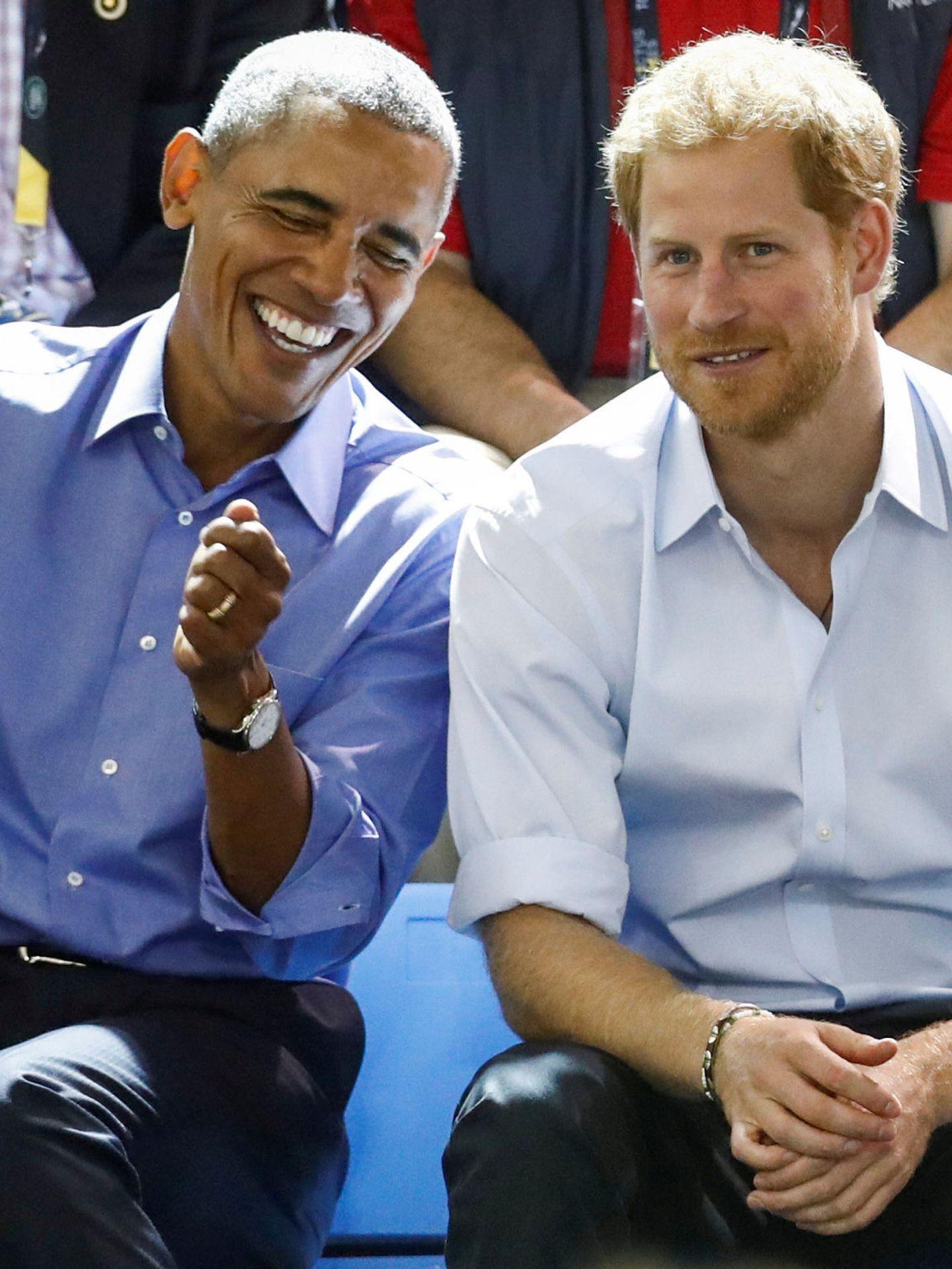 El príncipe Harry, con Obama. (EFE)