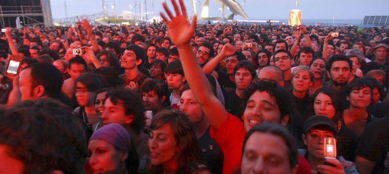 Foto: Concierto de Radiohead en Barcelona en 2008, último año de esplendor de la industria cultural (EFE)