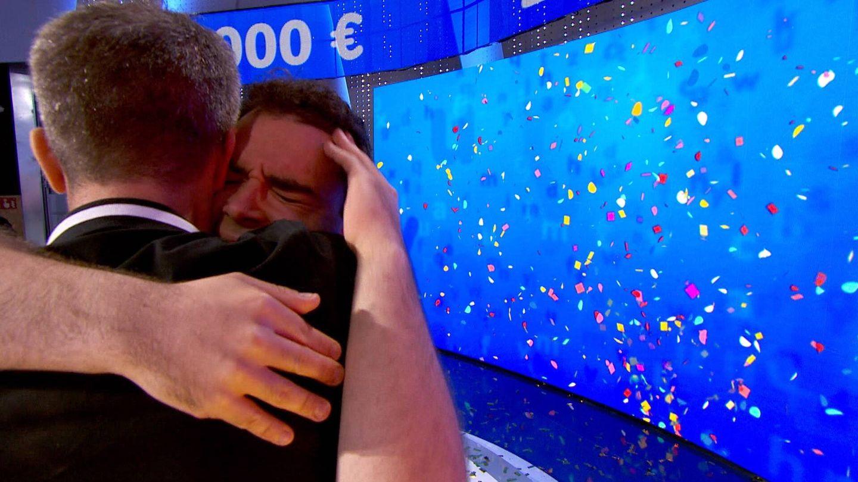Roberto Leal y Pablo Díaz, en 'Pasapalabra'. (Antena 3)