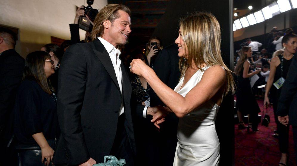 Foto: Brad y Jen, una gran pareja. (Getty)
