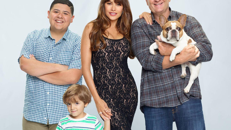 Sofía Vergara posando para 'Modern family'. (Fox España)