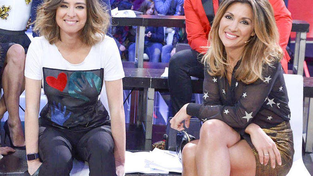 Foto: Sandra Barneda y Nagore Robles. (Telecinco)