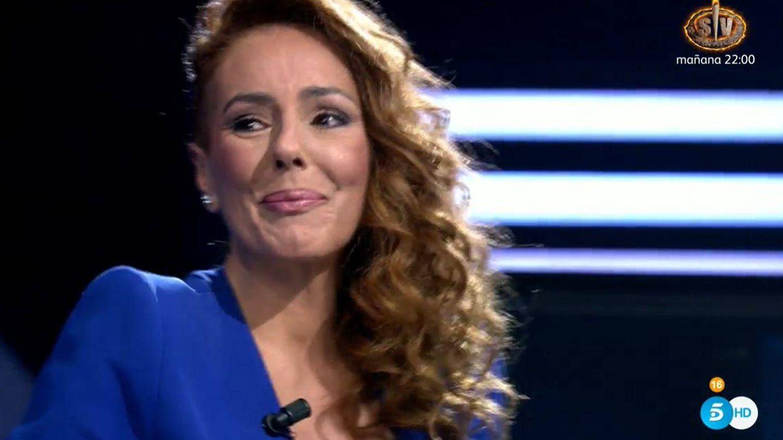 Rocío, al principio de la entrevista. (Mediaset)