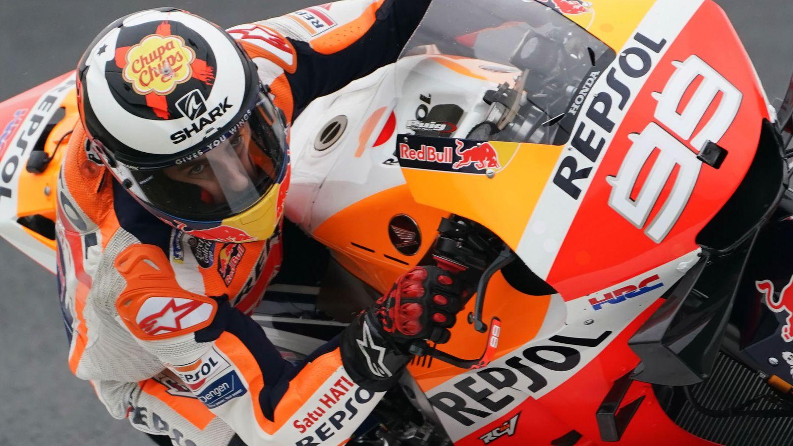 Foto: Jorge Lorenzo sobre su Honda en Francia. (EFE)