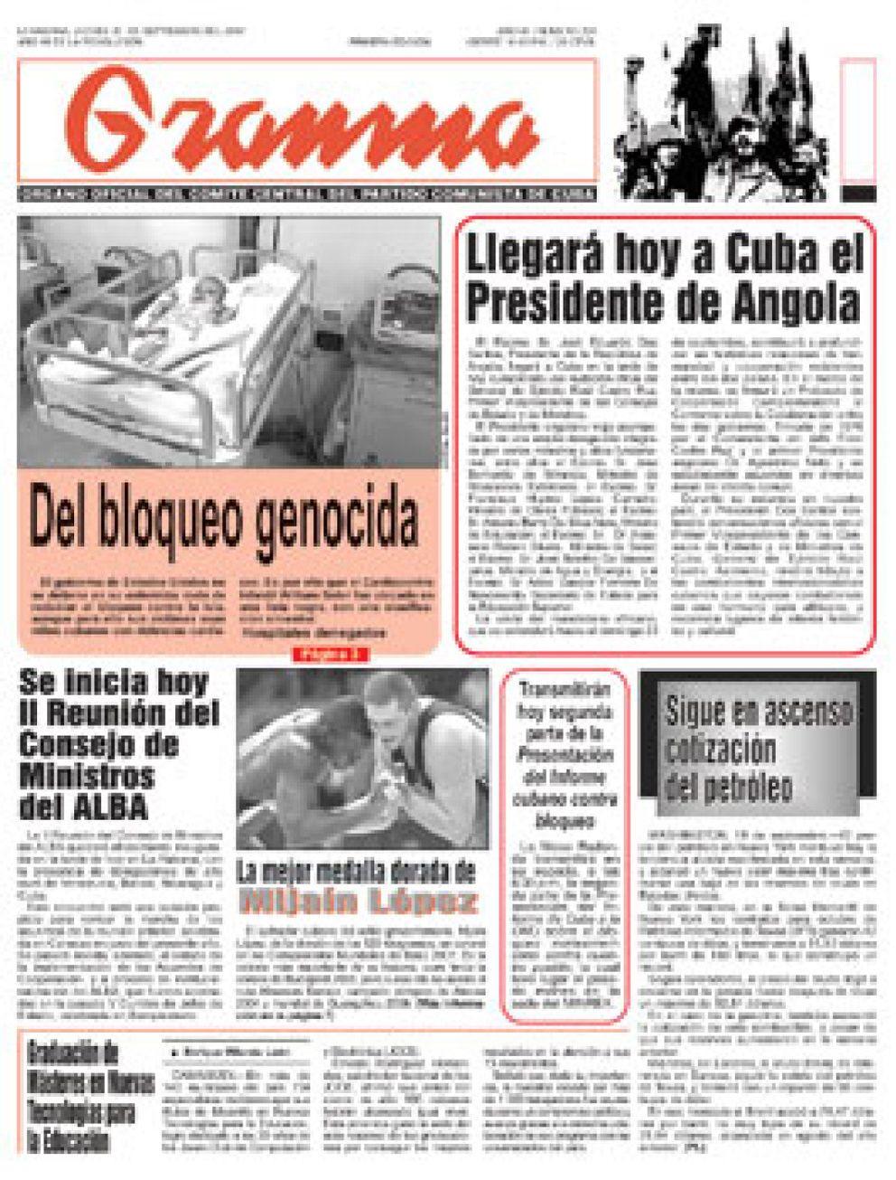 Foto: Una publicación comunista italiana regalará el diario cubano 'Granma'