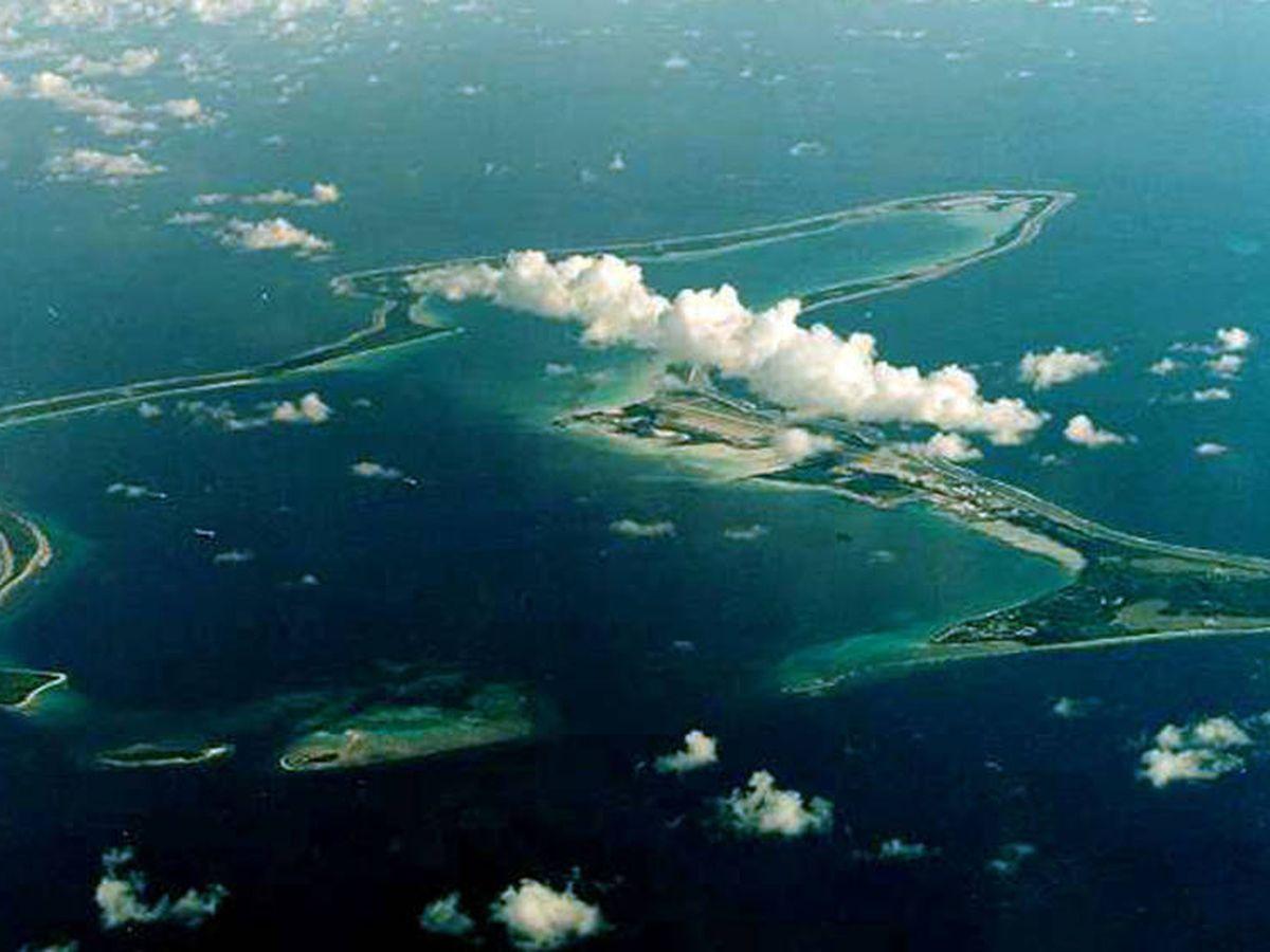 Foto: El atolón Diego García, el más grande del archipiélago de Chagos. (Reuters)