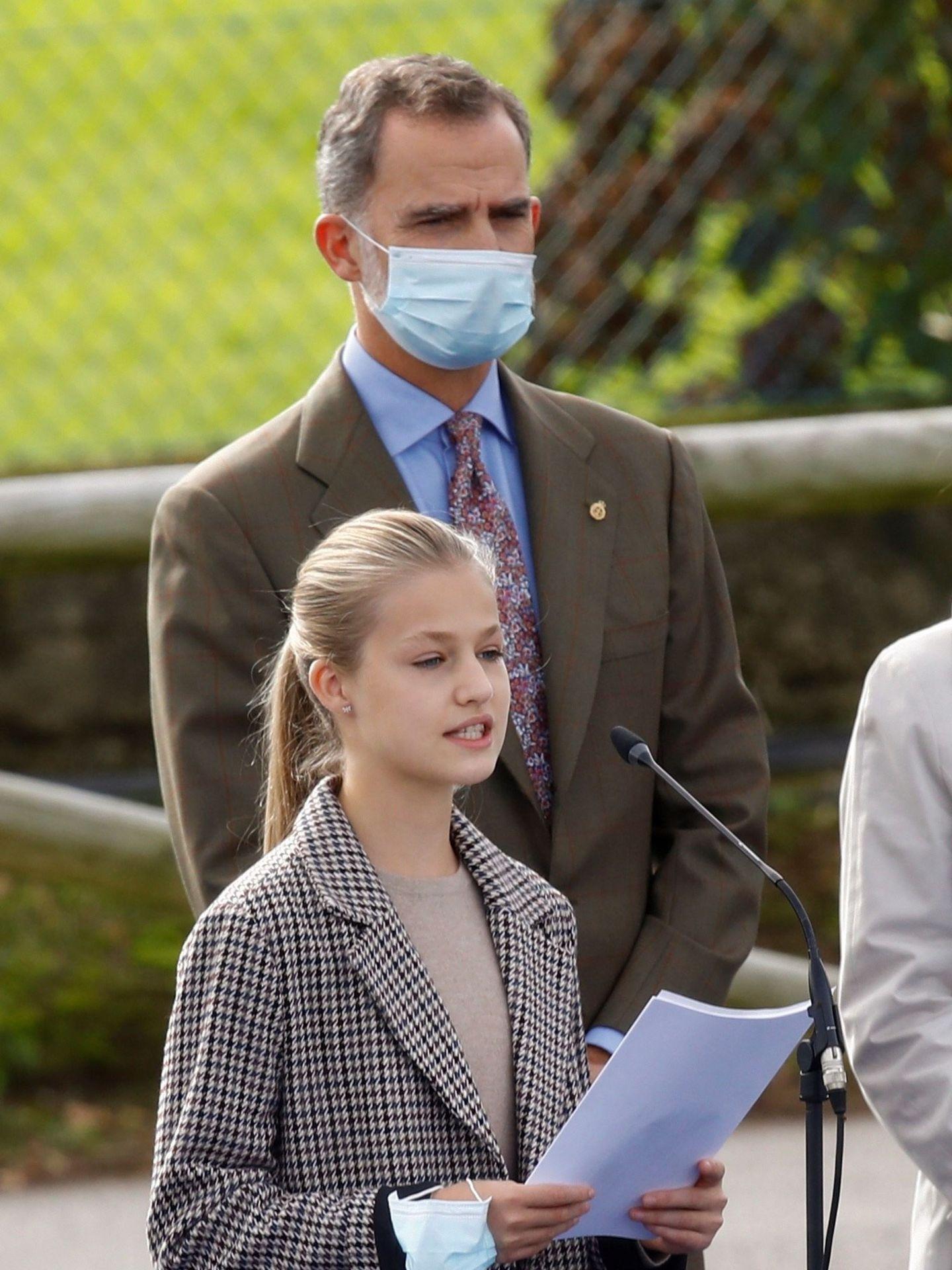 La princesa Leonor y el rey Felipe, en la entrega del Premio Pueblo Ejemplar. (EFE)