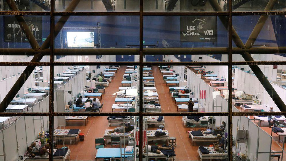 Foto: India está utilizando todo tipo de instalaciones para los enfermos de coronavirus (Reuters/Adnan Abidi)