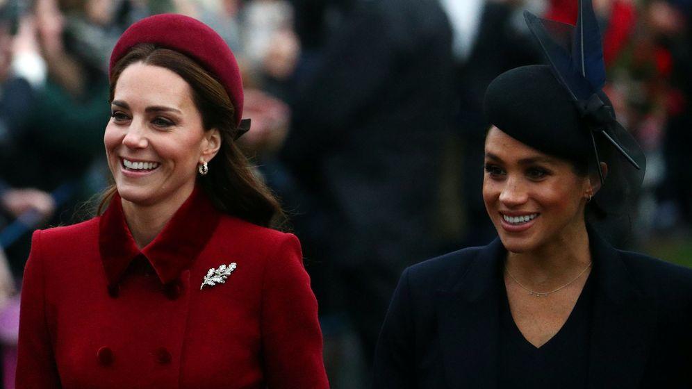 Foto: Kate y Meghan en Sandringham. (Reuters)