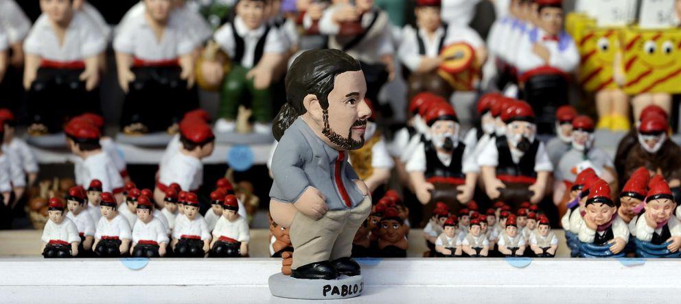 Foto: Detalle del 'caganer' del secretario general de Podemos, Pablo Iglesias. (EFE)
