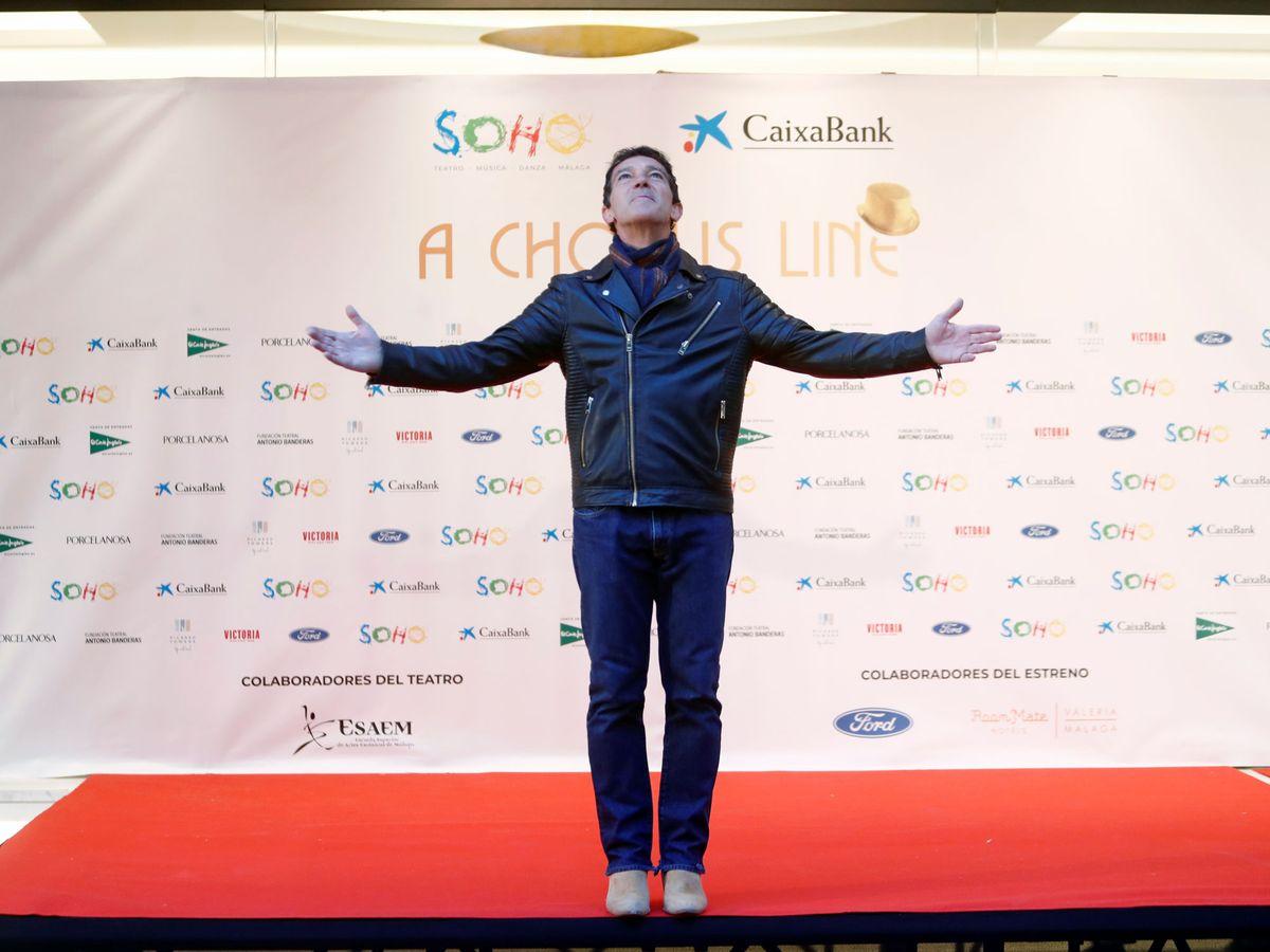 """Foto: Antonio Banderas antes del estreno del musical """"A chorus line"""". (Reuters)"""
