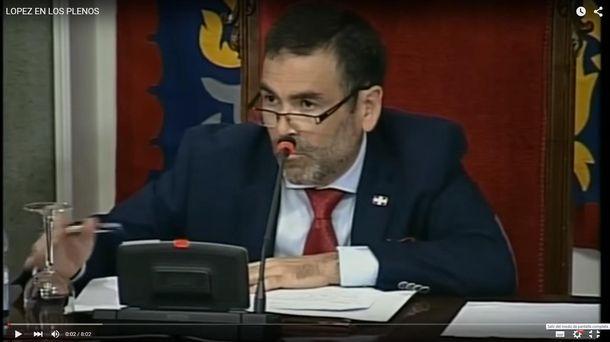 Foto: El alcalde de la ciudad, José López. (YouTube)