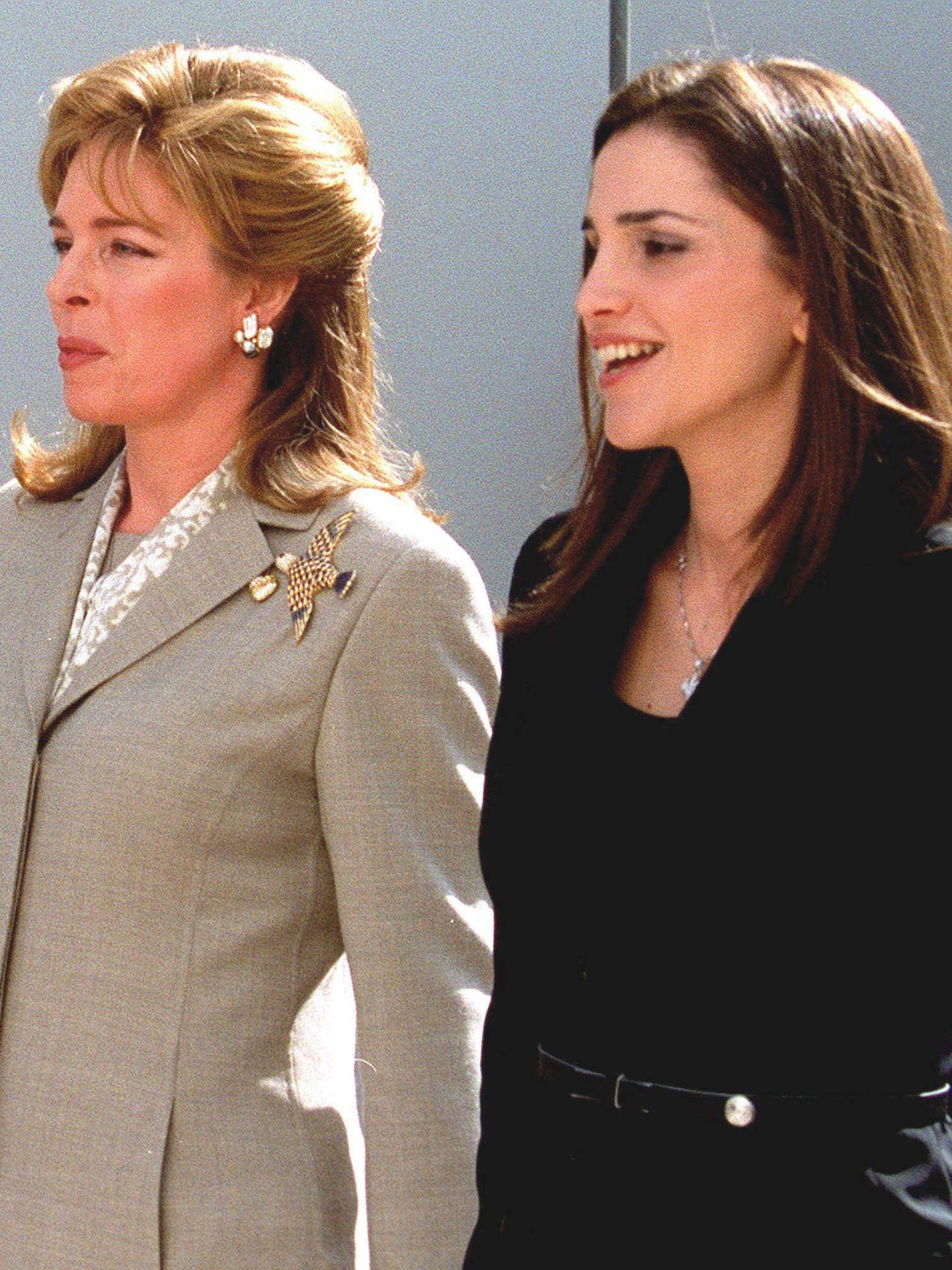 Rania y Noor, en una imagen de 2000. (Getty)