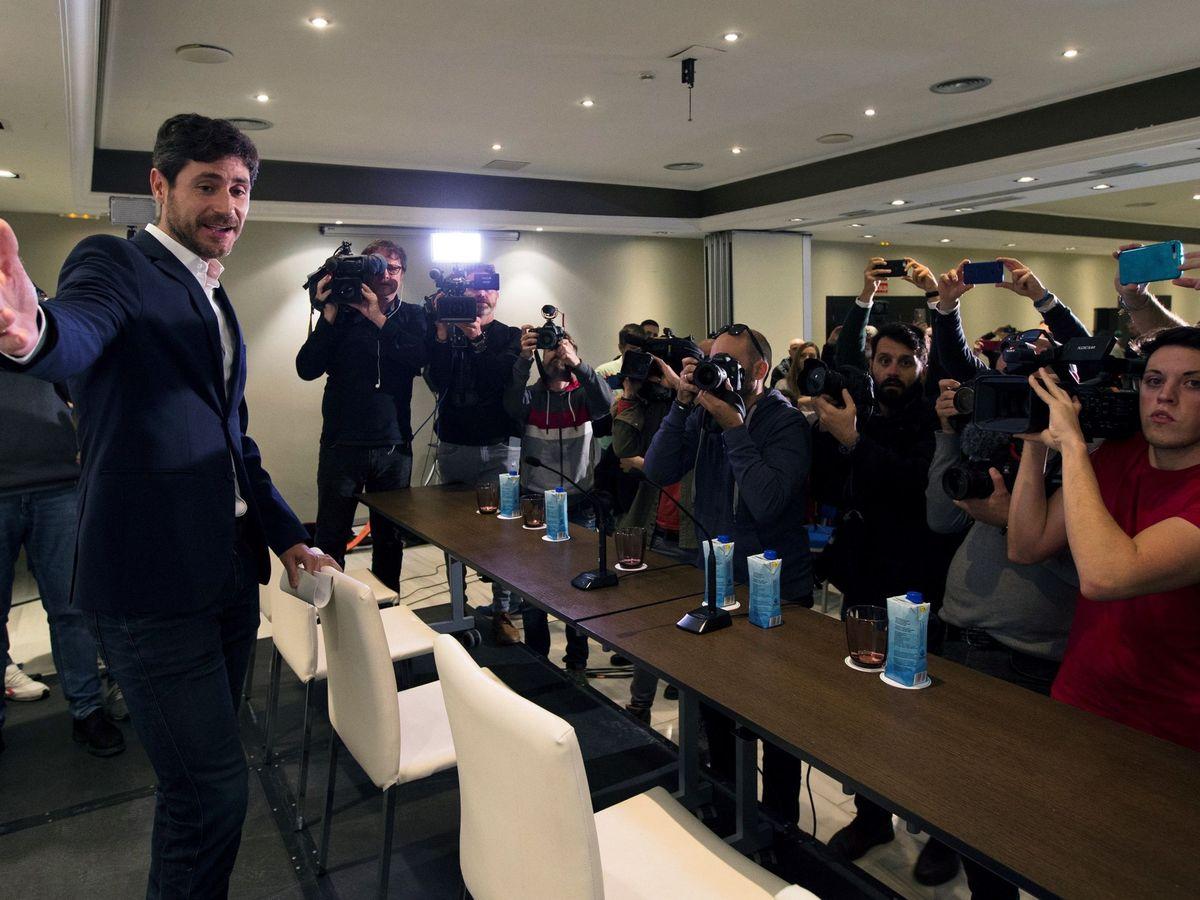 Foto: Víctor Sánchez del Amo, en rueda de prensa. (Reuters)