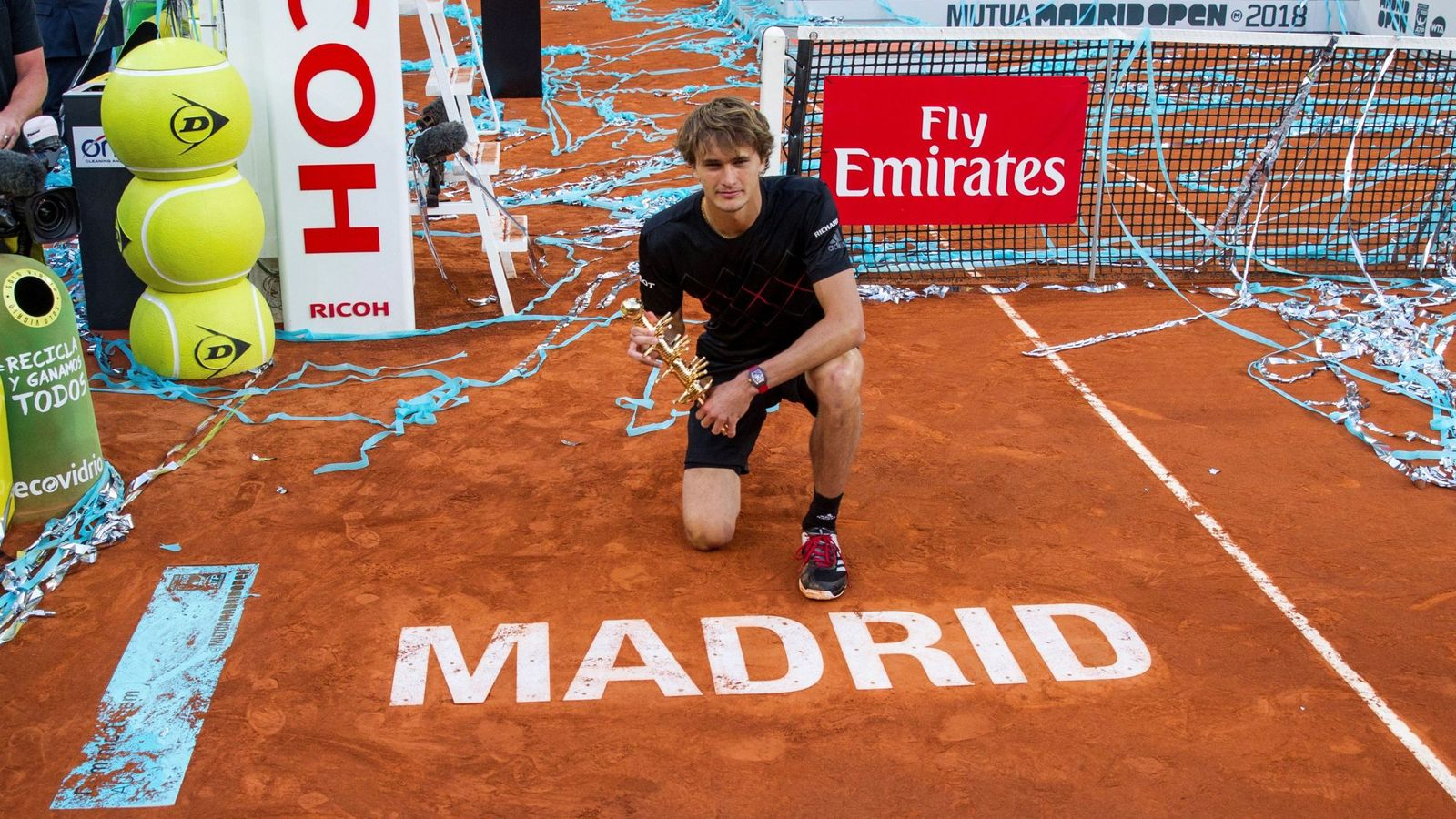 Foto: Zverev, campeón en Madrid. (EFE)