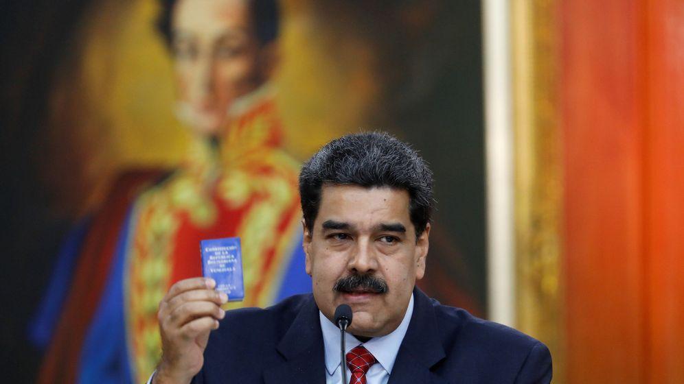 Foto: El presidente de Venezuela, Nicolás Maduro, da una rueda de prensa en el Palacio de Miraflores. (Reuters)