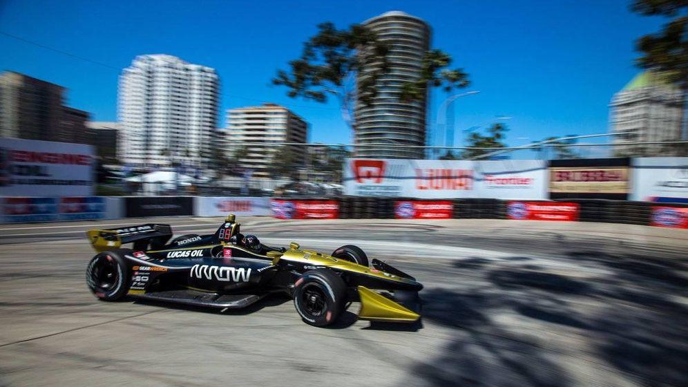 Foto: Marcus Ericcson al volante de su monoplaza de la IndyCar. (Twitter: @Ericsson_Marcus)