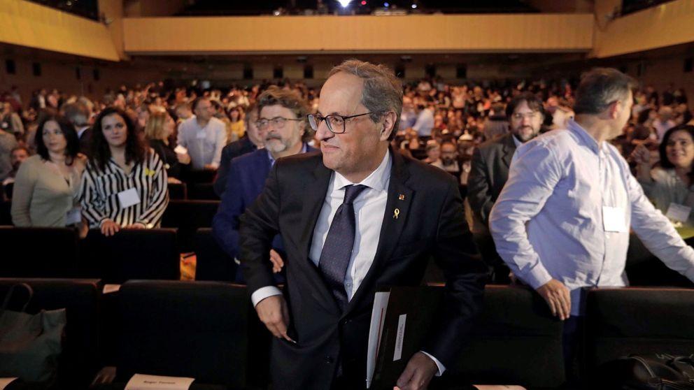 Torra se reúne con Puigdemont en Waterloo en plena negociación de la investidura