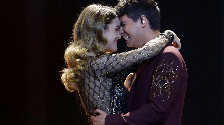 Alfred y Amaia, durante el festival de Eurovisión. (Reuters)