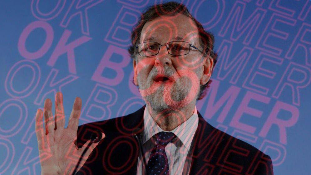 Foto: Mariano Rajoy con el lema 'Ok Bloomer'.