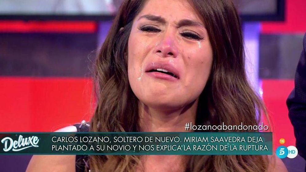 Foto: Miriam Saavedra, en 'Sábado Deluxe'. (Telecinco).