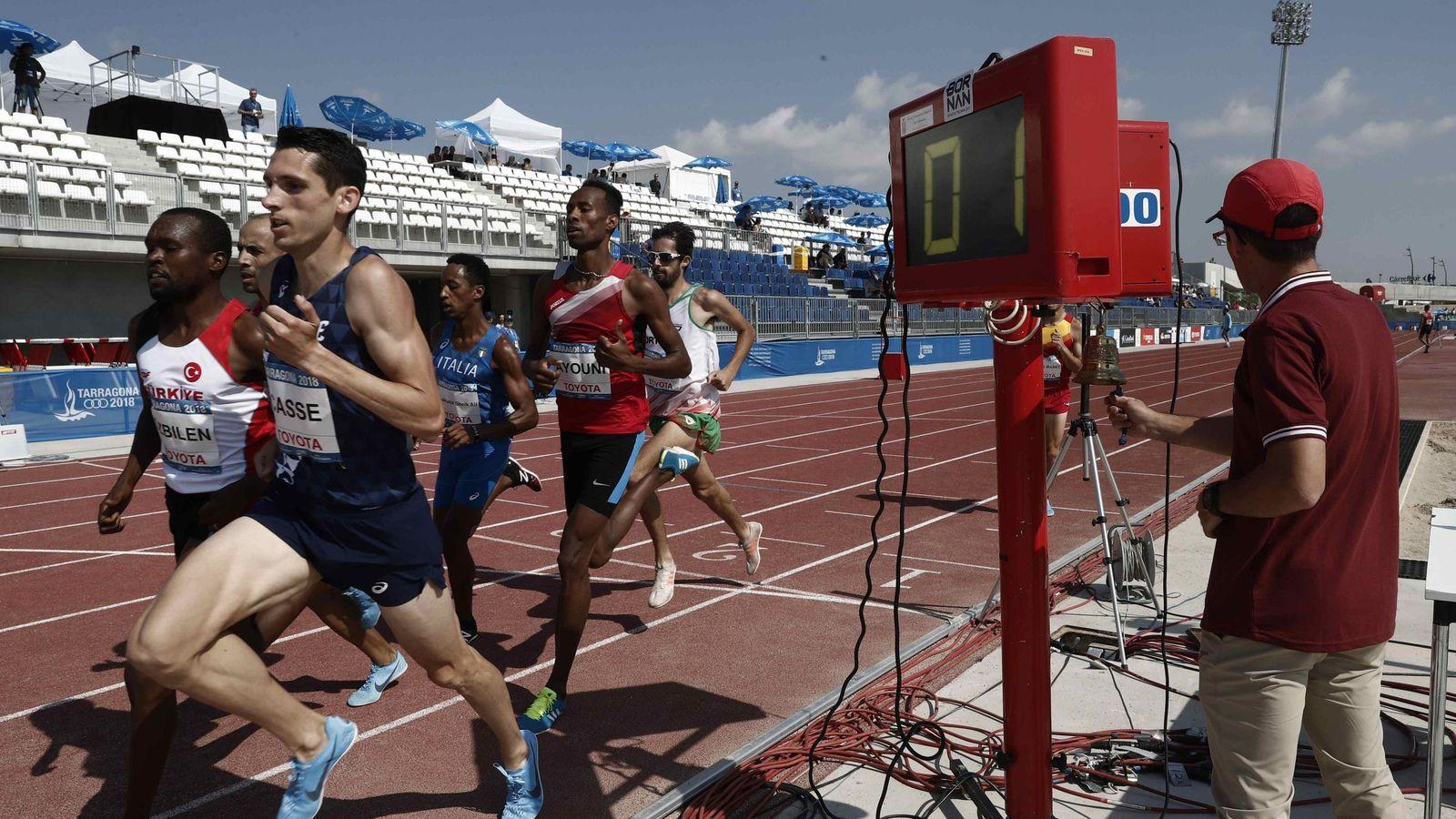 Foto: Gradas vacías en los Juegos del Mediterráne. (EFE)