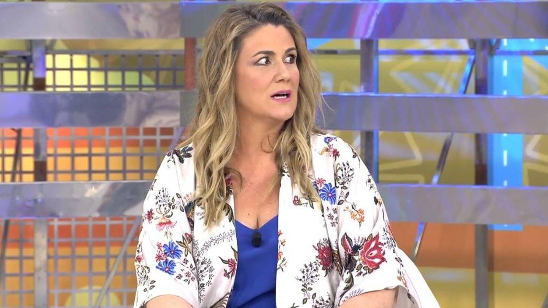 Carlota al escuchar el micro abierto de Gema. (Mediaset España)